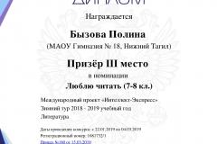 Интеллект-экспресс. . Лит. Бызова. 2019
